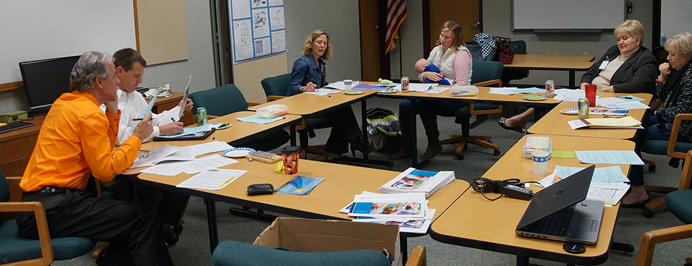 October 28, 2014 board meeting: Tom Howe, Tim Mommaerts, Heather Lott, Nicole Toepfer (and Connor), Barb Sramek, Roberta Felker