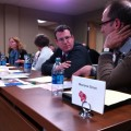 Andrew Bridell and Peter Kuzma of Monona Grove identify particular strengths of their induction program at the December 8, 2014 District Council meeting.
