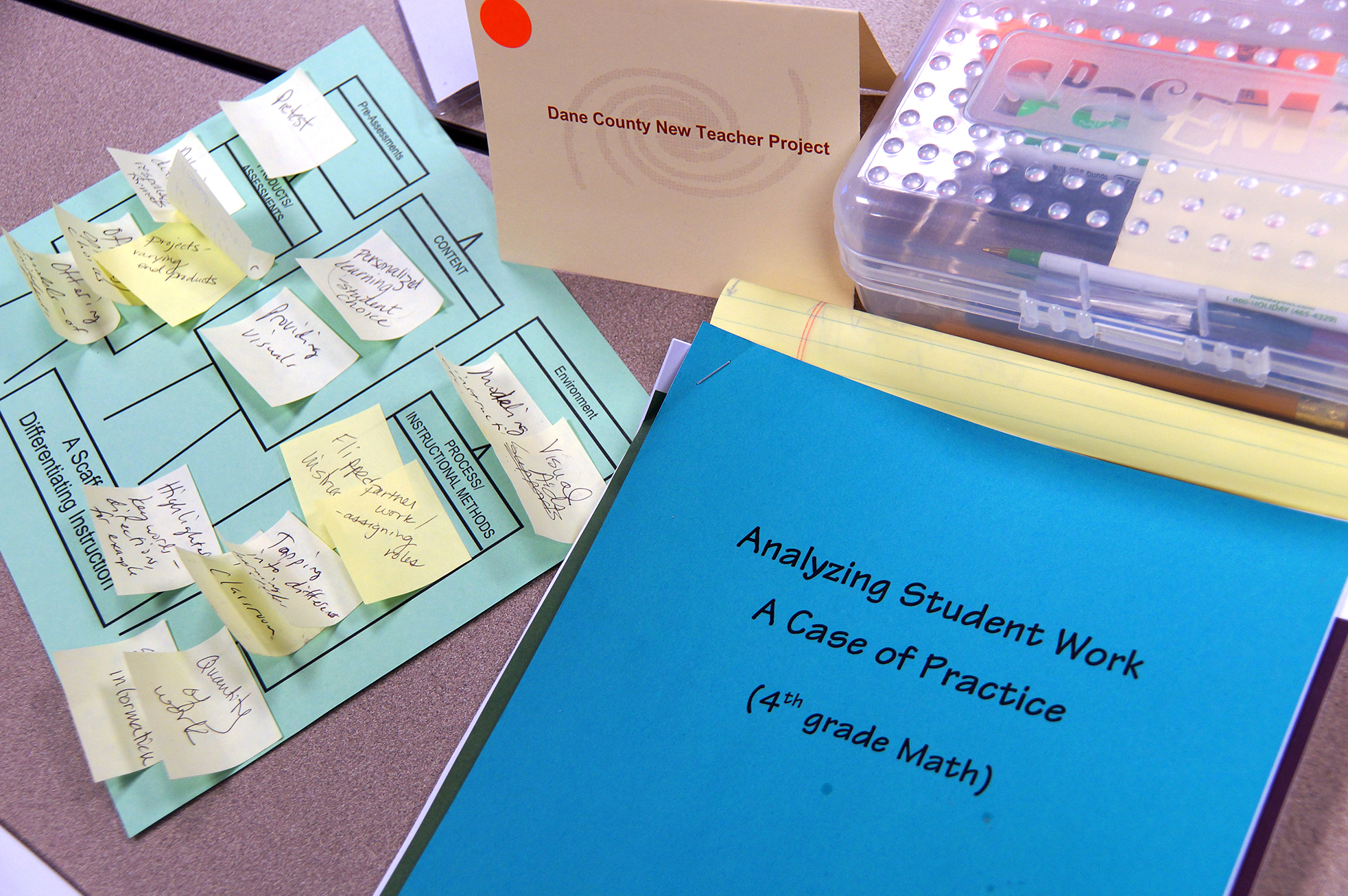 Mentor workshop materials for analyzing student work